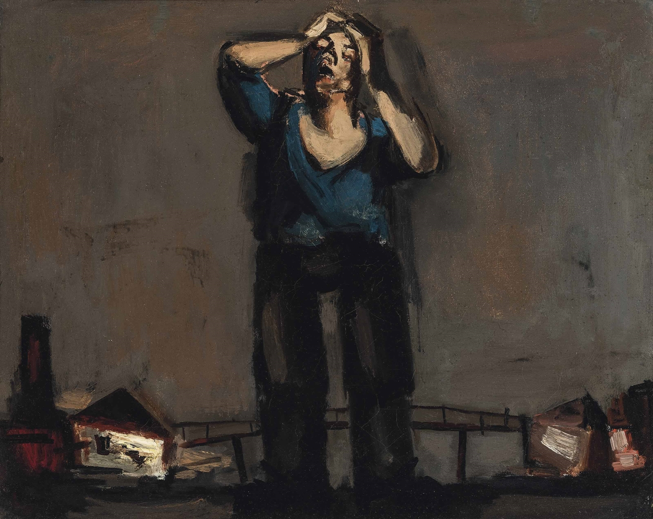 Josef Herman-Tired Miner-1947