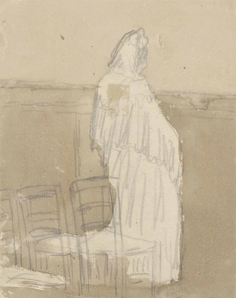 Gwen John-Standing woman in an interior-