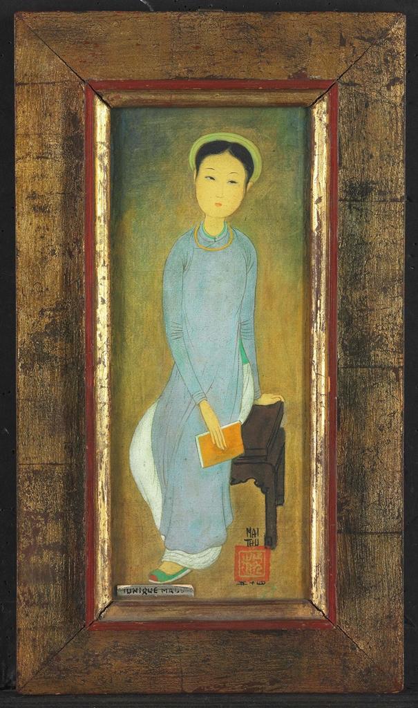 Mai Trung Thu-Tunique Mauve-1954