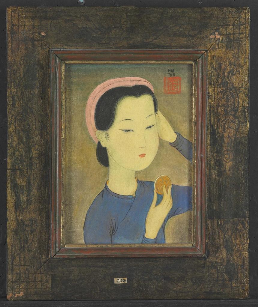 Mai Trung Thu-Coquette Avec Petite Miroir-1950