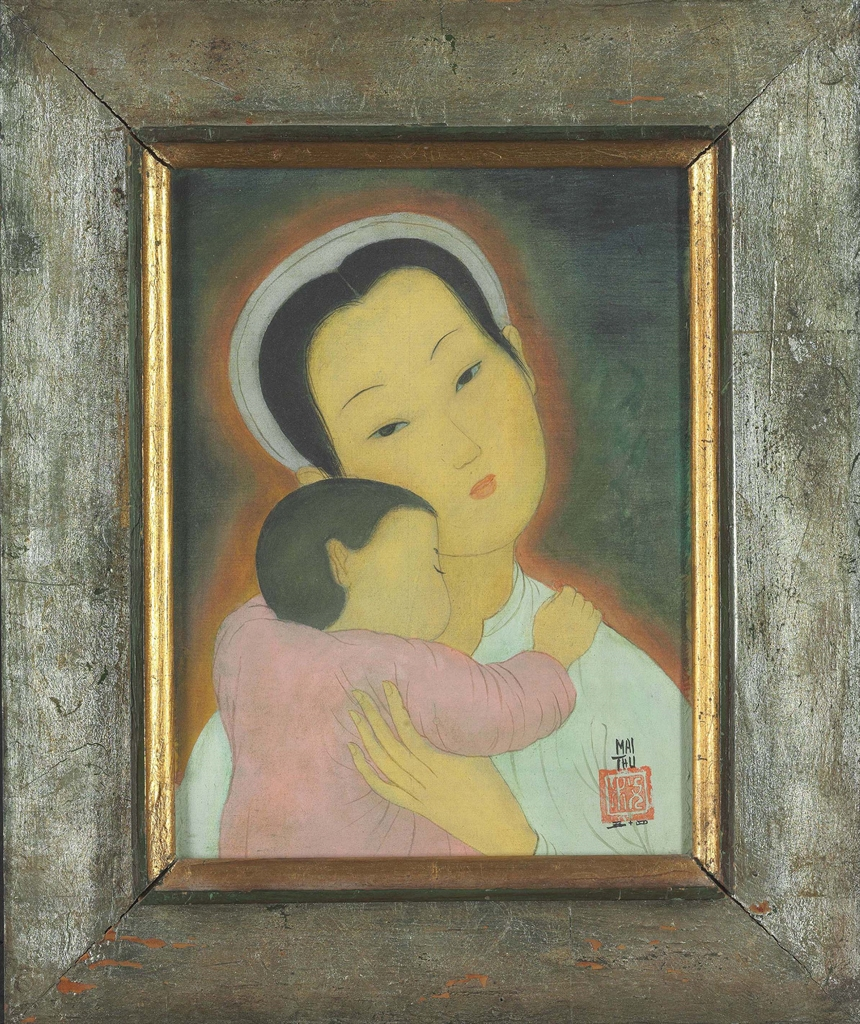 Mai Trung Thu-Woman With Child-1954
