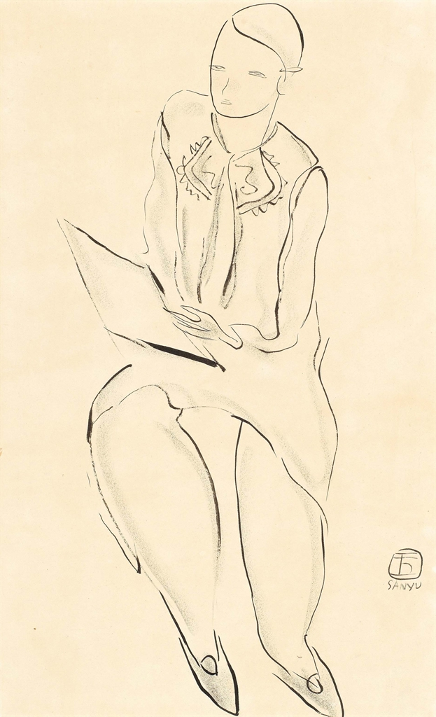 Sanyu-Modele A L'Academie (Woman At The Academy)-