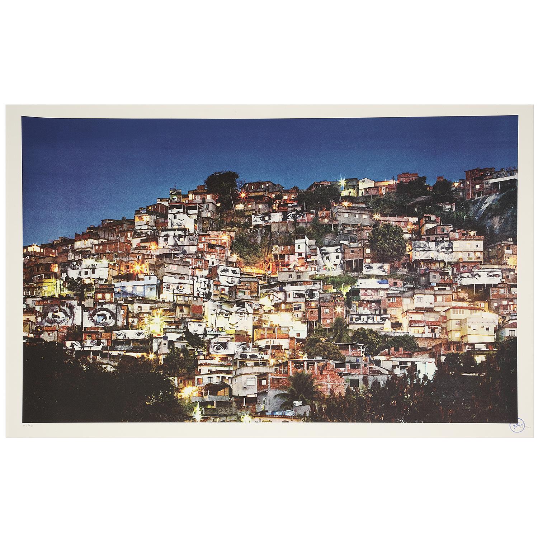 JR-28 Millimetres, Women Are Heroes, Action Dans La Favela Morro Da Providencia, Favela De Nuit, Rio De Janeiro, Bresil-2012