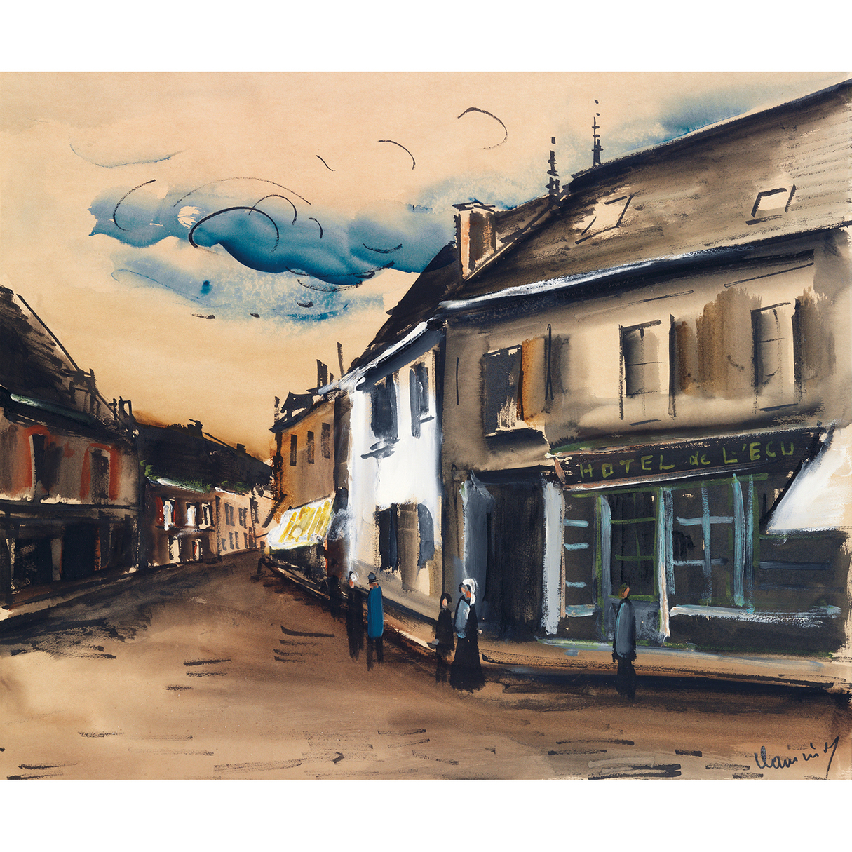 Maurice de Vlaminck-Hotel De L'Ecu A Brezolles-