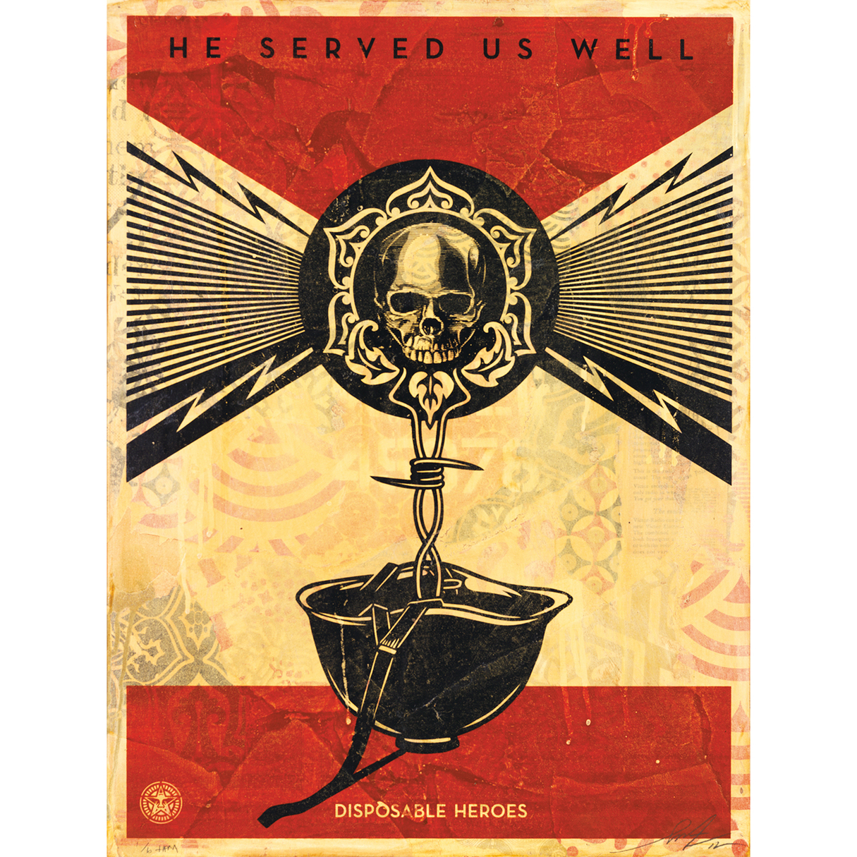 Shepard Fairey-Disposable Heroes-2012