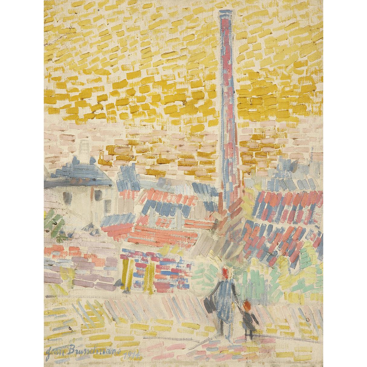 Jean Brusselmans-Matin En Banlieue-1914