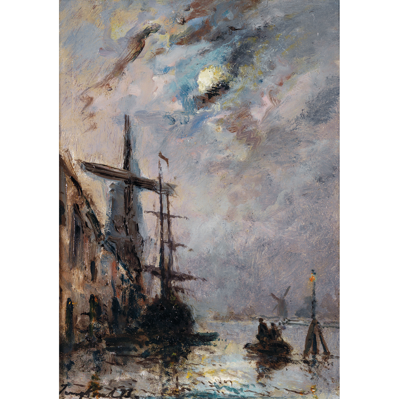 Johan Barthold Jongkind-Environs De Dordrecht-1873