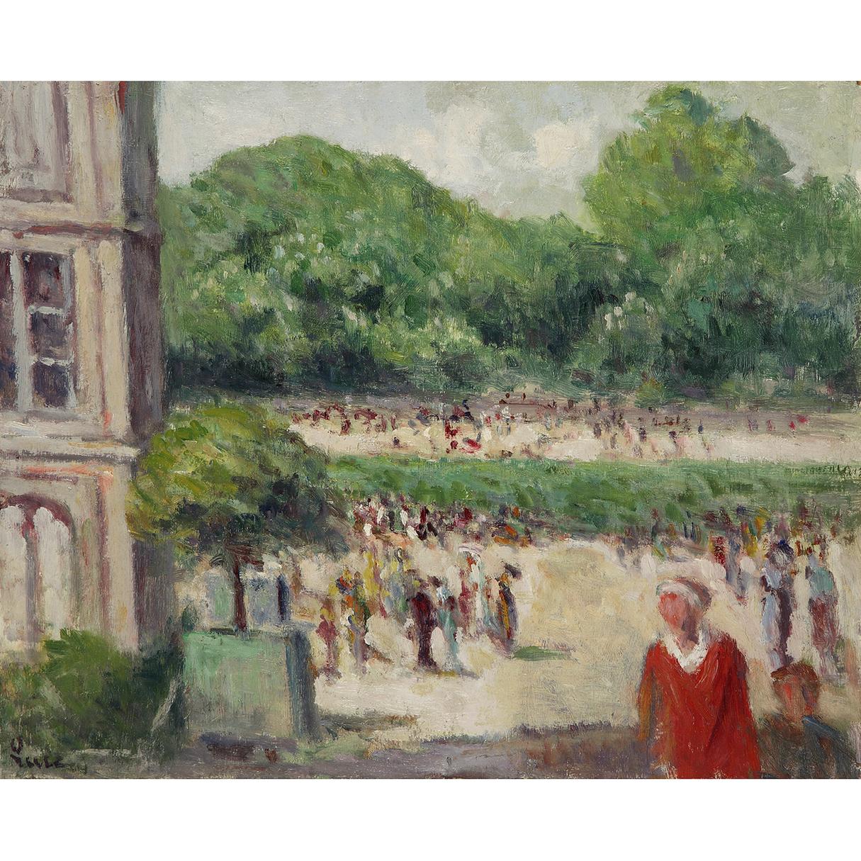 Maximilien Luce-Le Jardin Du Luxembourg-1930