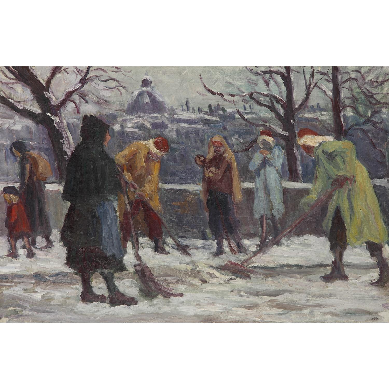 Maximilien Luce-Paris, Le Balayage De La Neige, Vers-1930-1925