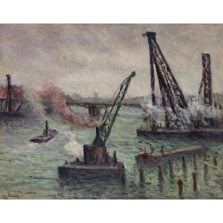 Maximilien Luce-Paris, Travaux Sur La Seine-1934