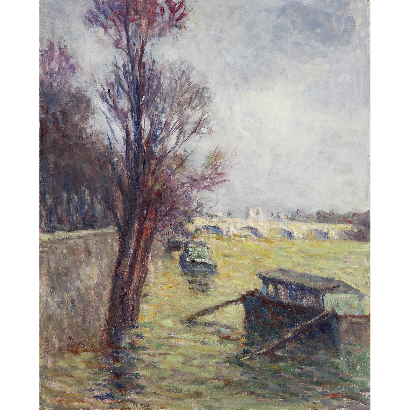 Maximilien Luce-Paris, Les Inondations Pres Du Pont Neuf, Vers-1910