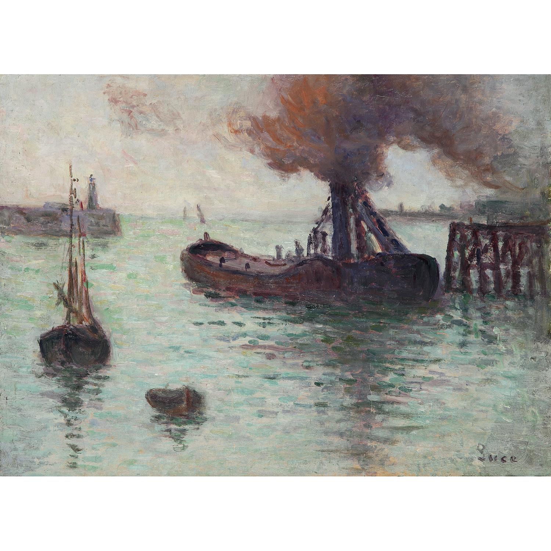 Maximilien Luce-Honfleur, L'Entree Du Port, Vers-1930