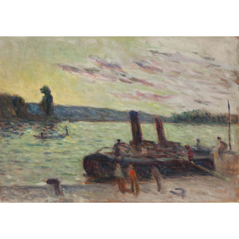 Maximilien Luce-Rolleboise, Remorqueurs A Quai-1935