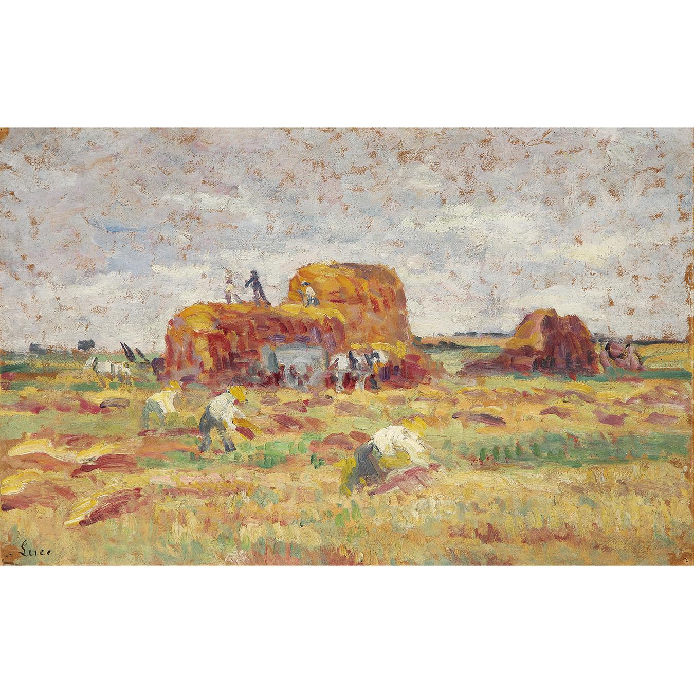 Maximilien Luce-Rolleboise, La Fenaison, Vers-1938-1935