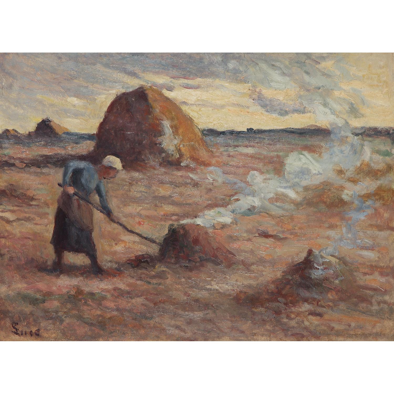 Maximilien Luce-Rolleboise, Enfants Jouant Devant Le Bain, Vers-1940