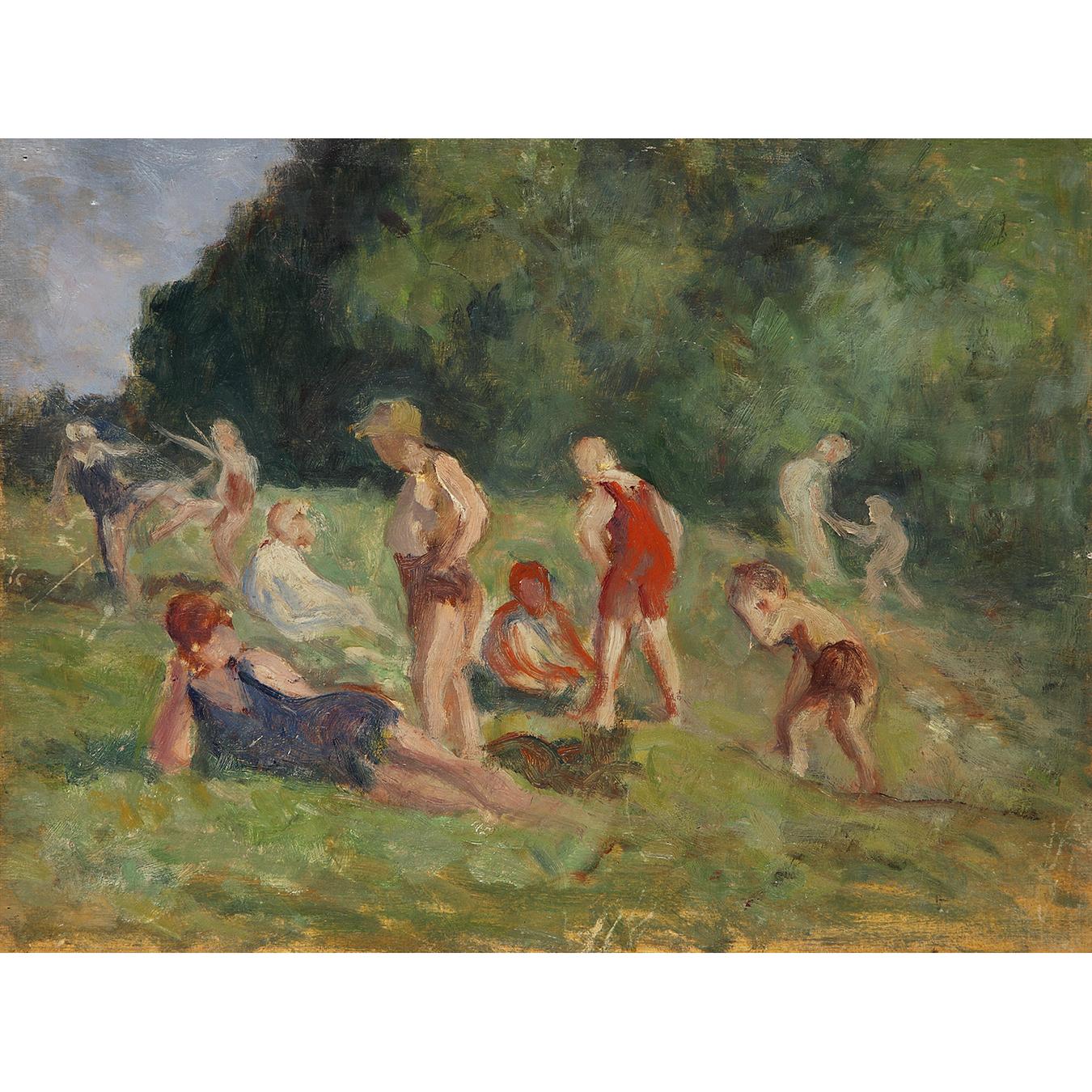 Maximilien Luce-Balayage De La Chaussee, Vers-1930