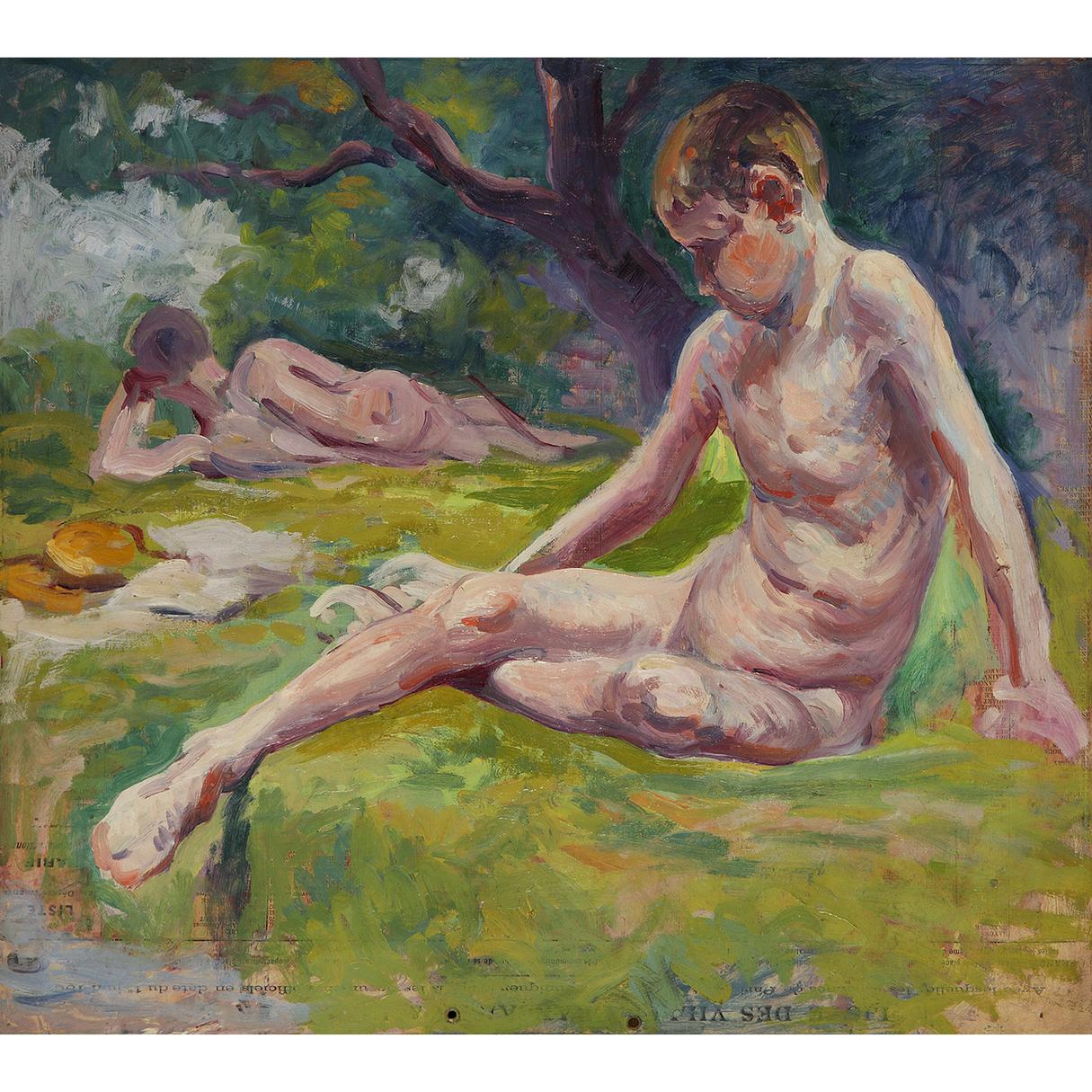 Maximilien Luce-Etude De Baigneurs-1908