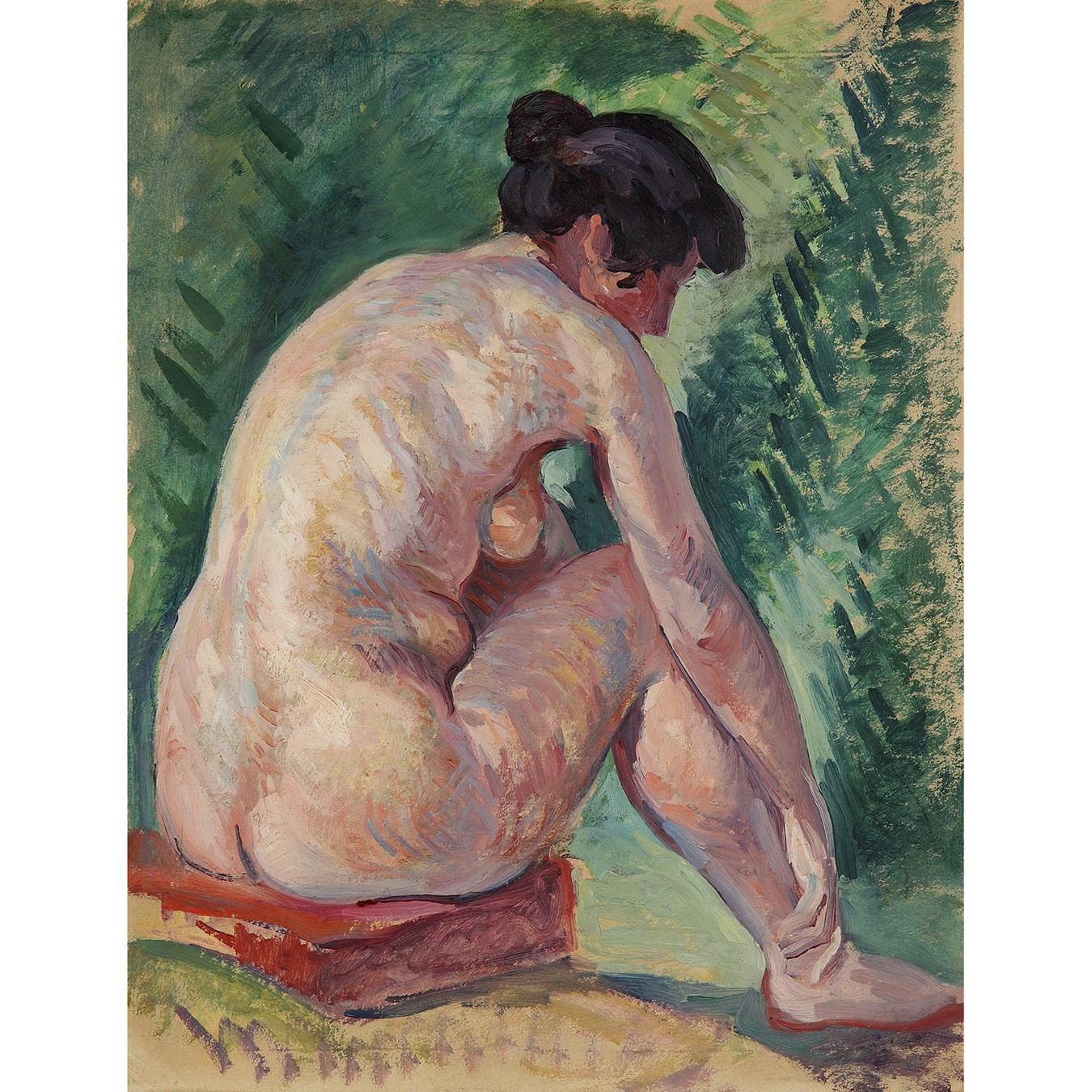 Maximilien Luce-Nu Assis, Vers-1910