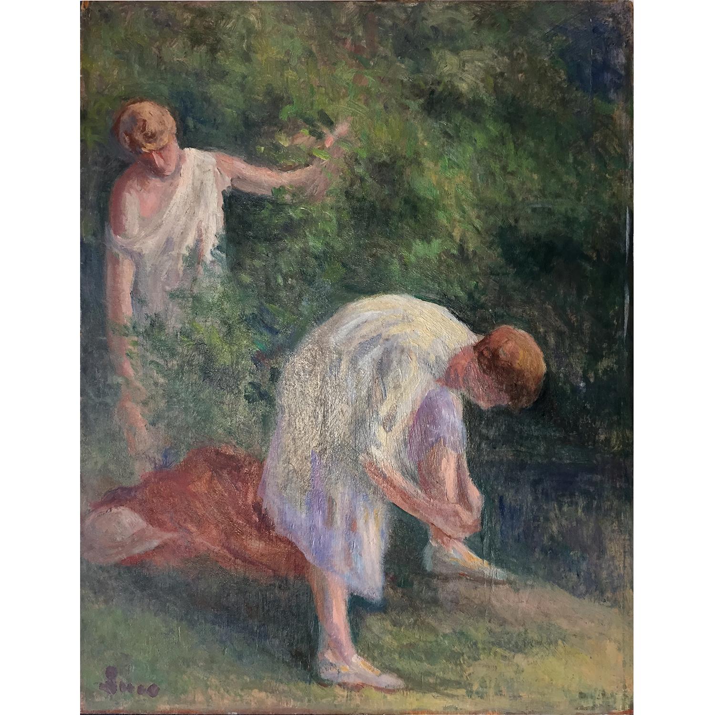 Maximilien Luce-Rolleboise, Deux Femmes Apres Le Bain, Vers - 1938-1935