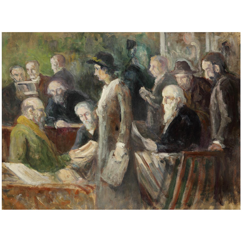 Maximilien Luce-Artistes Et Critiques Devant L'Exposition, Vers-1905