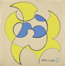 Giacomo Balla-Motivo per cuscino-1925