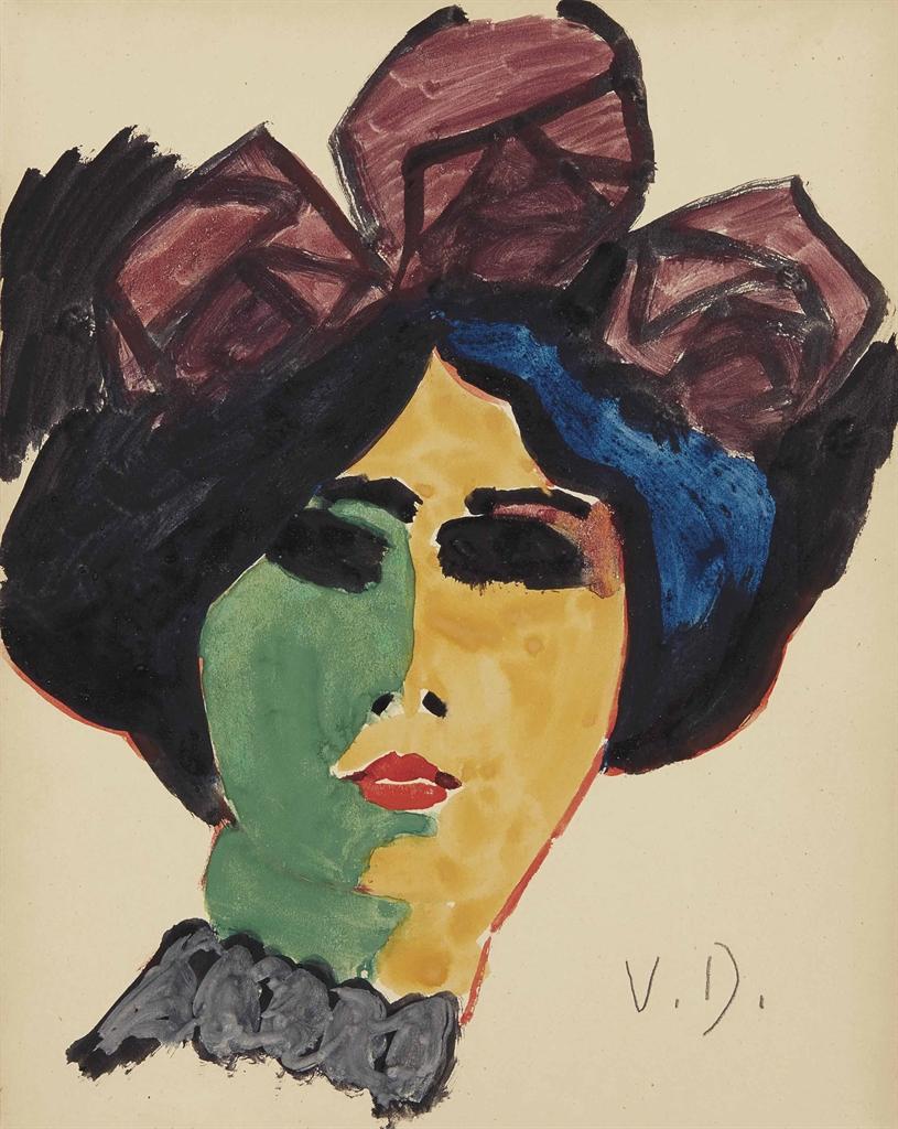 Kees van Dongen-Portrait de femme au chapeau-1912
