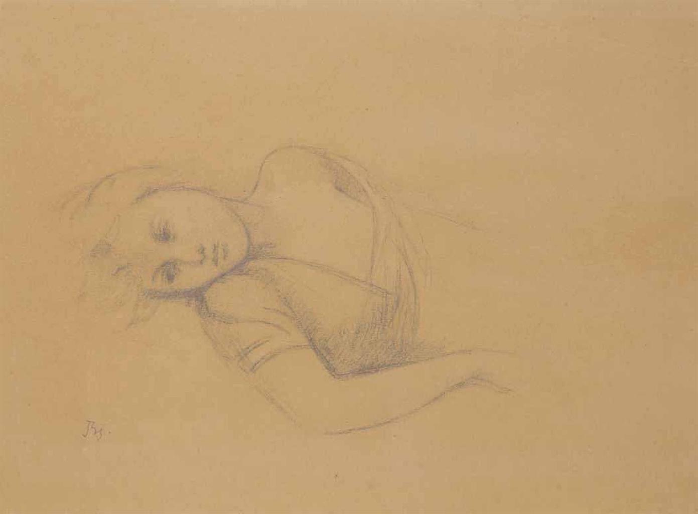 Balthus-Etude pour 'Femme couchee'-1948