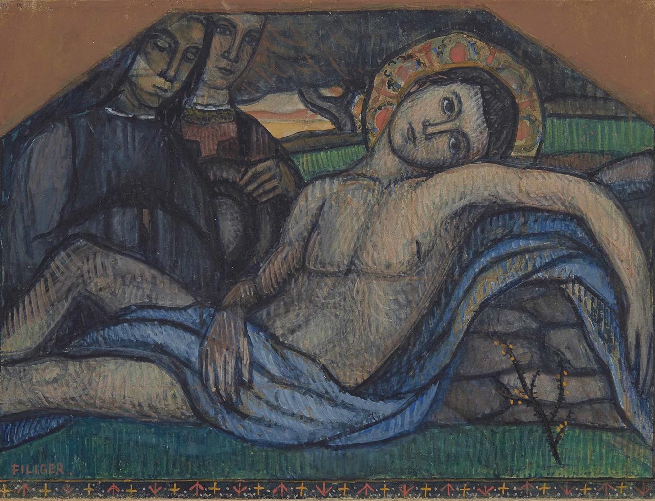 Charles Filiger-Deploration sur le corps du Christ-1895