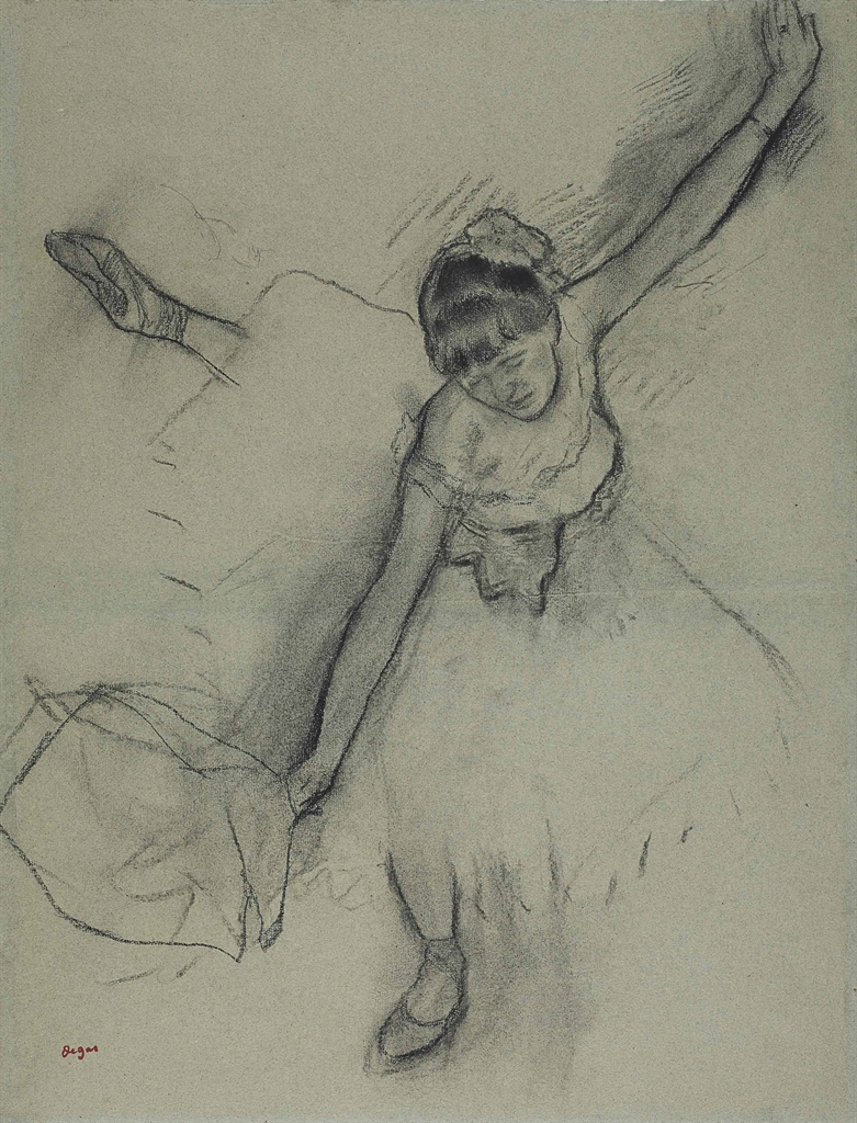 Edgar Degas-Danseuse au bouquet-