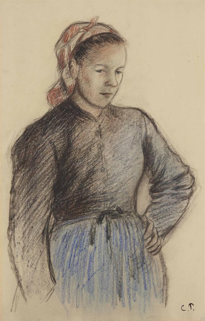 Camille Pissarro-Jeune paysanne-1890