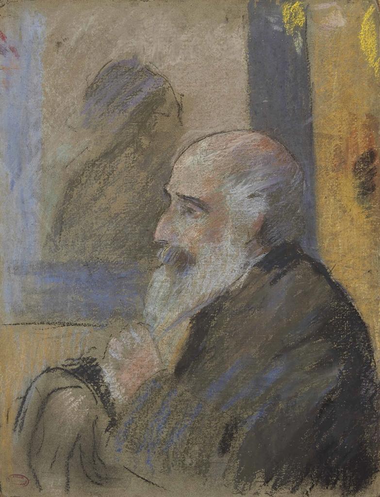 Federico Zandomeneghi-Portrait de Camille Pissarro-