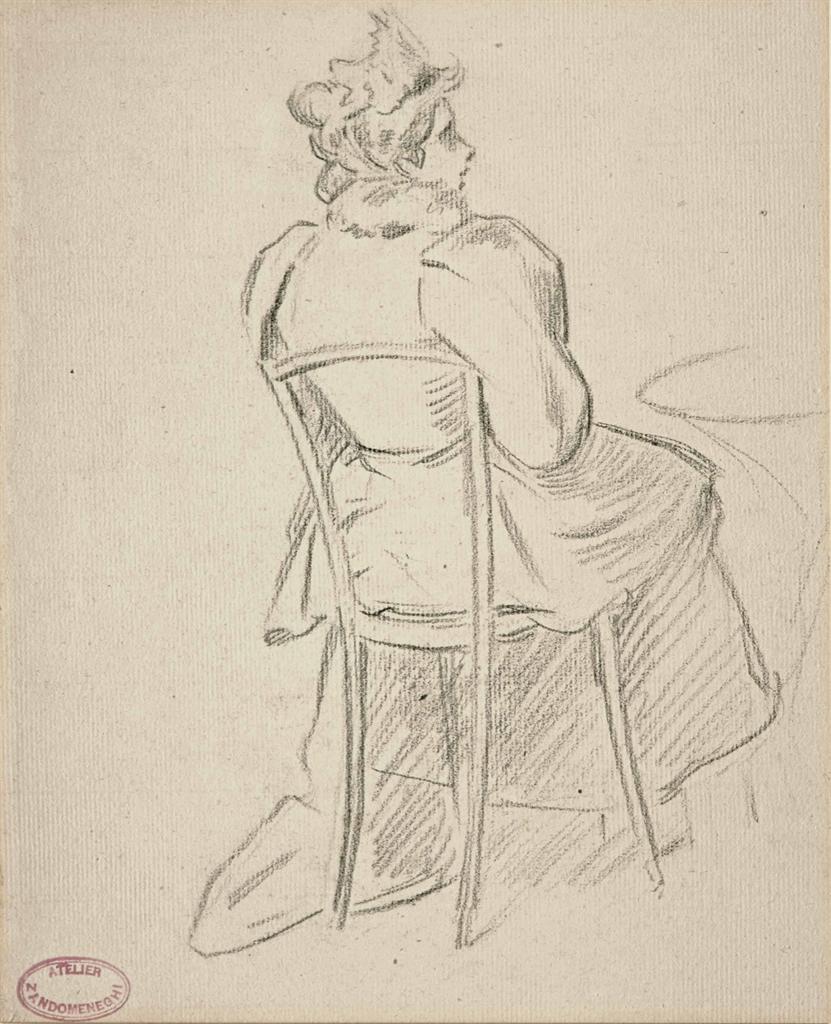 Federico Zandomeneghi-Femme au cafe-