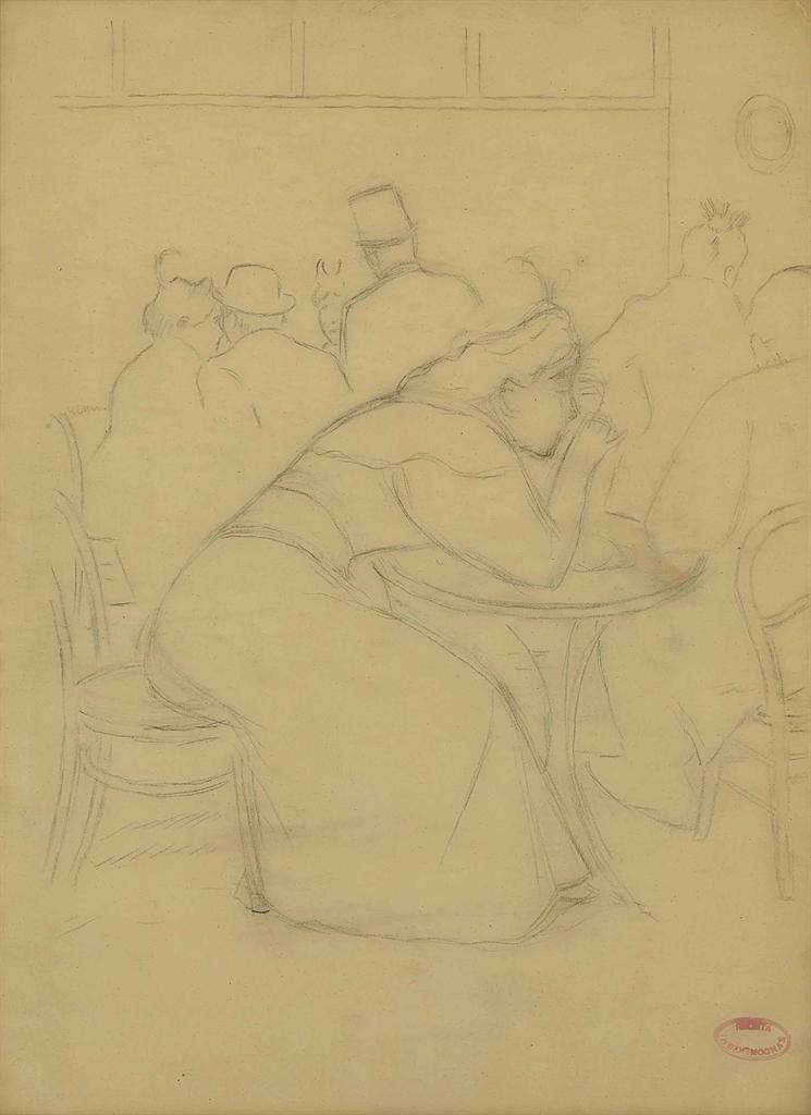 Federico Zandomeneghi-Au cafe-
