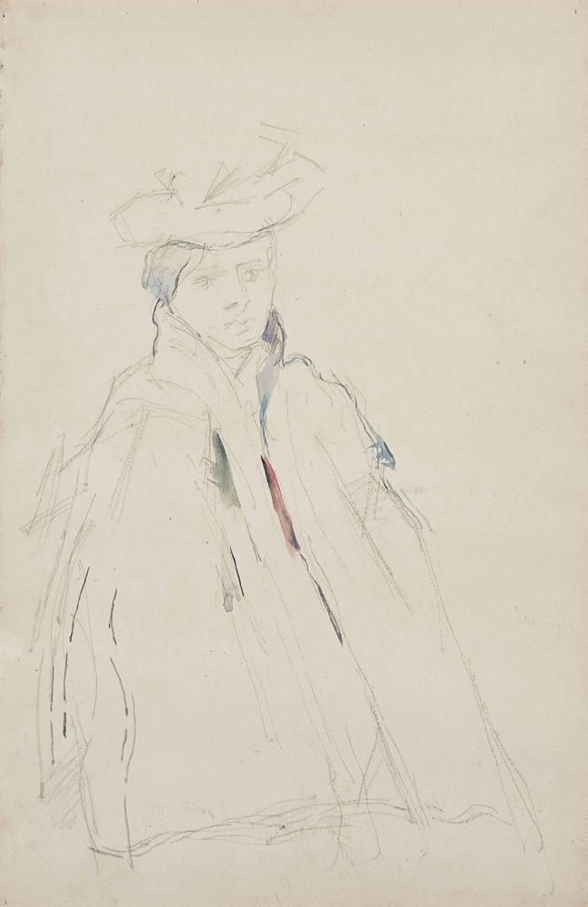 Paul Cezanne-Femme a la mante-1895