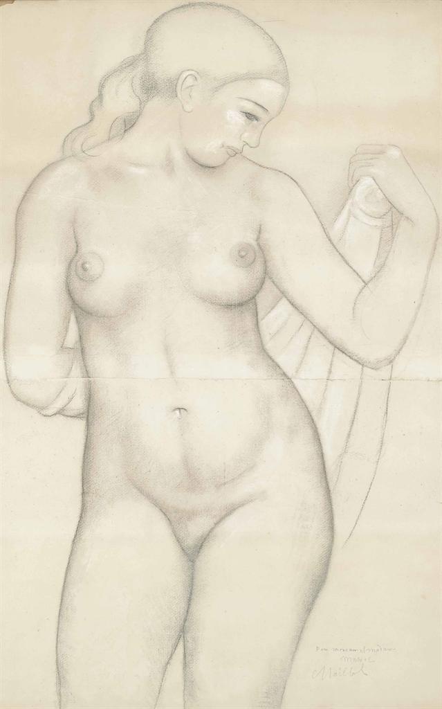 Aristide Maillol-Dina de face, etude pour 'Harmonie'-1940