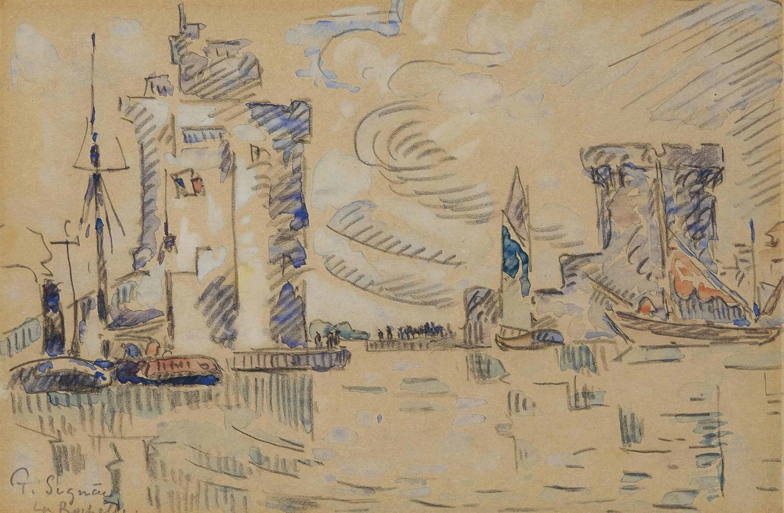 Paul Signac-Le port de La Rochelle-1925
