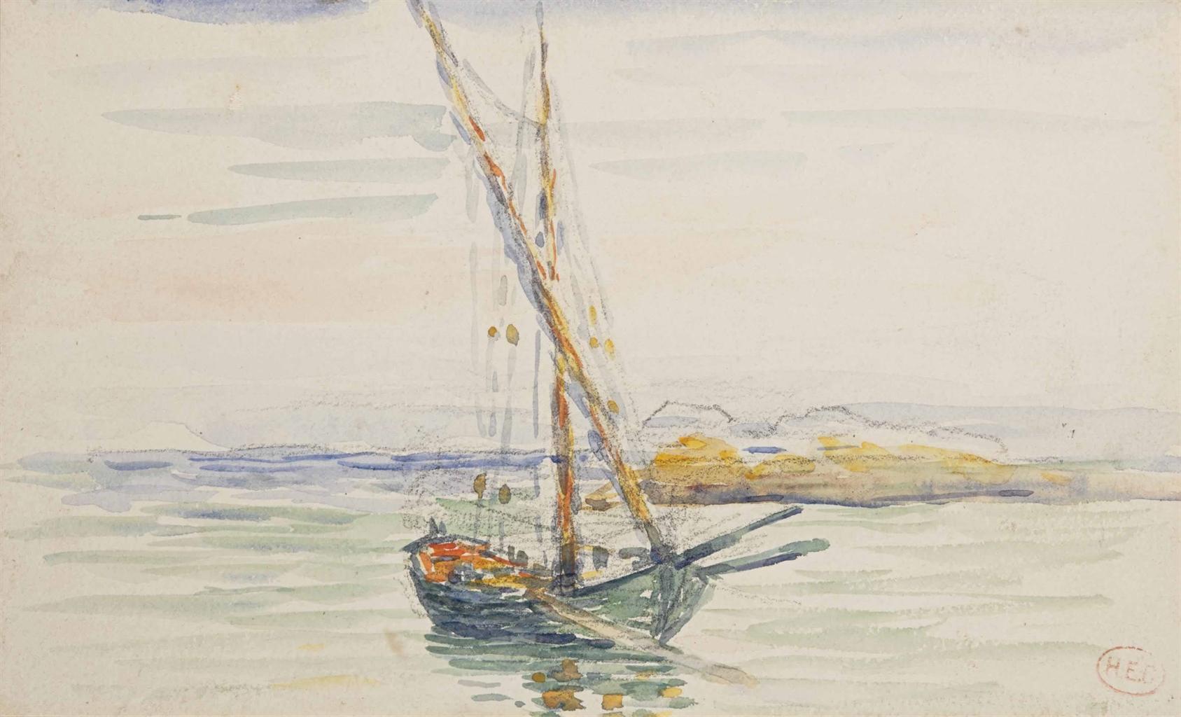 Henri-Edmond Cross-La barque-