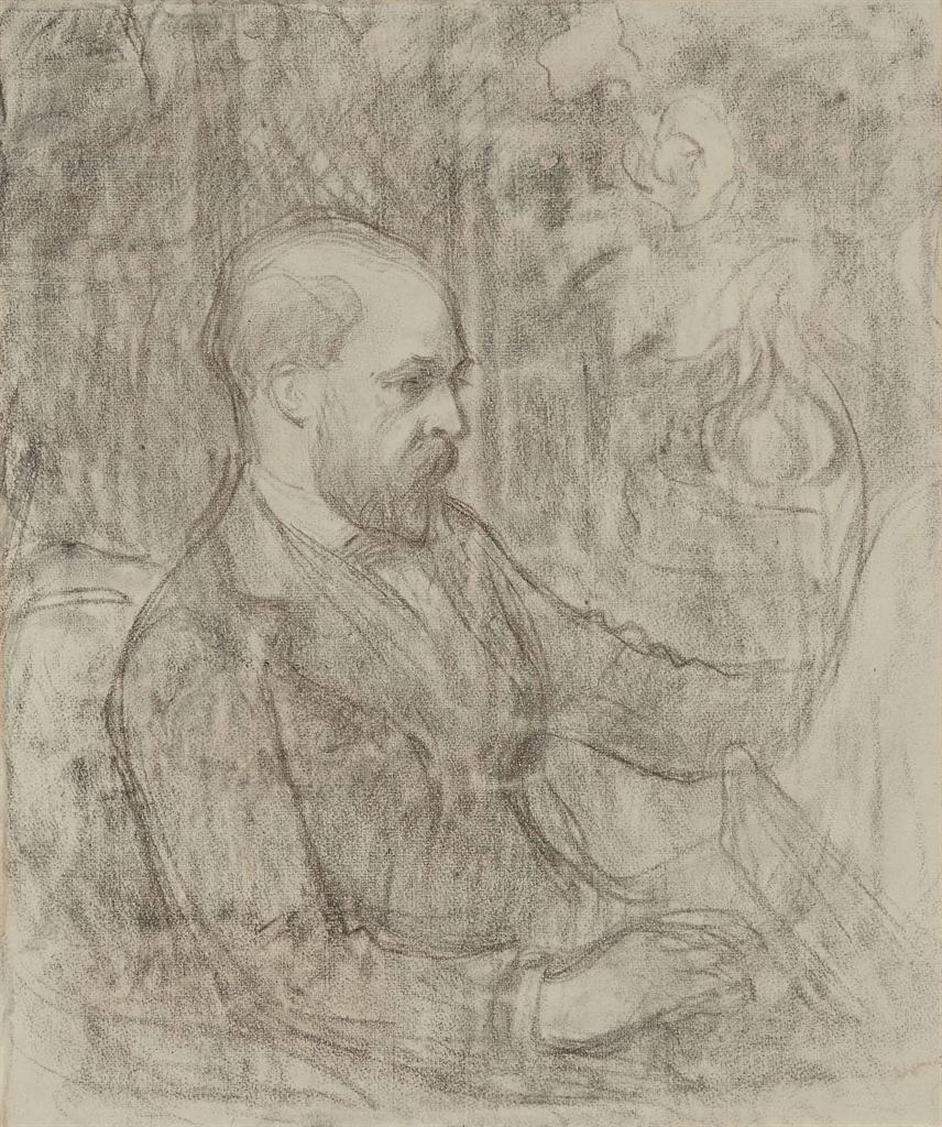 Emile Schuffenecker-Portrait d'Odilon Redon-1891