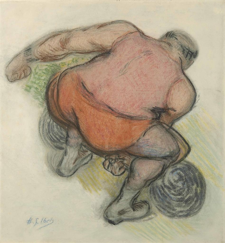 Henri-Gabriel Ibels-Etude pour 'Le cirque, avant la representation'-1895
