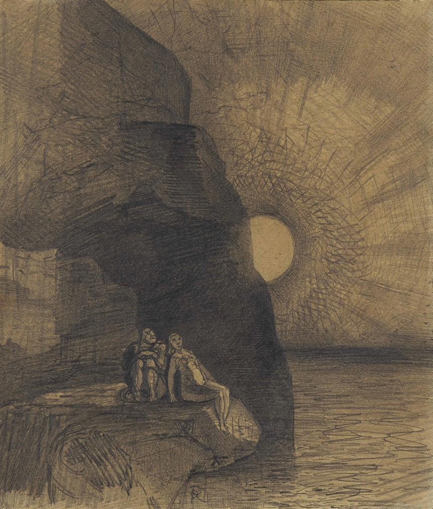Odilon Redon-Sans cesse a mes cotes s'agite le demon, 'La destruction' in Les Fleurs du mal de Charles Baudelaire-1889