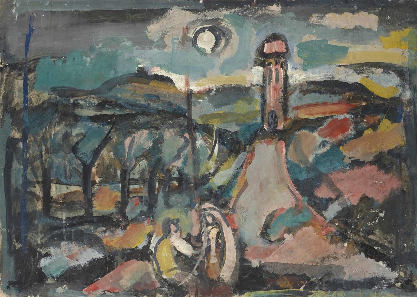 Georges Rouault-Paysage au bosquet-1939