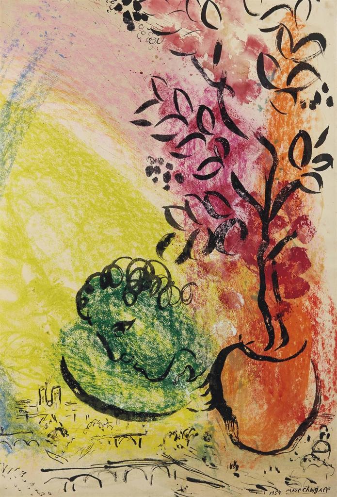 Marc Chagall-Le bouquet de Paris-1954