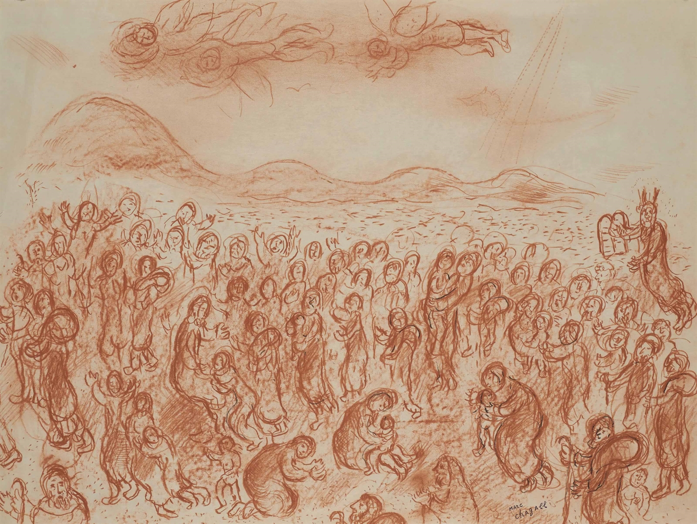 Marc Chagall-La sortie d'Egypte-1976