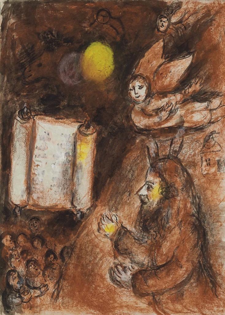 Marc Chagall-Moise et la Torah-1976