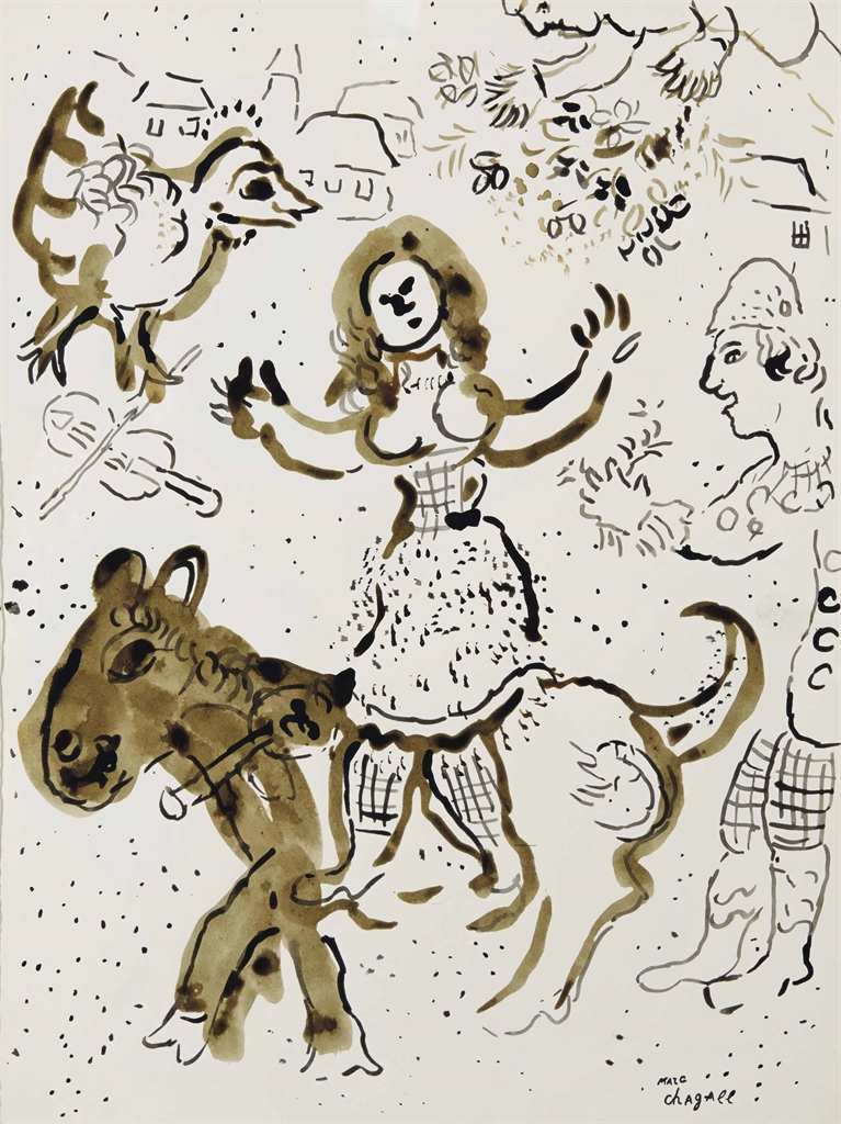 Marc Chagall-L'ecuyere-1973