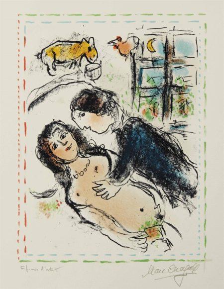Marc Chagall-Hymenee-1983