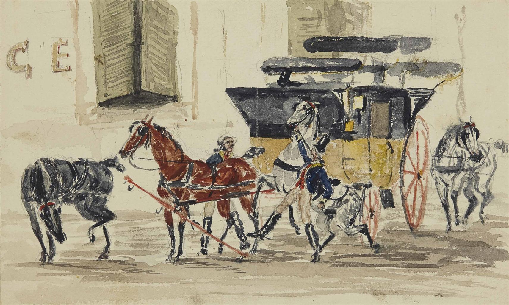 Henri de Toulouse-Lautrec-Le postillon-1878