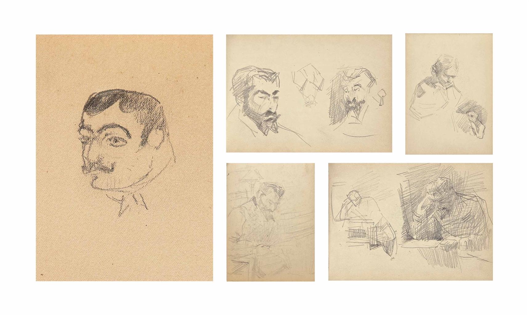 Henri de Toulouse-Lautrec-Petit album relie noir-1880