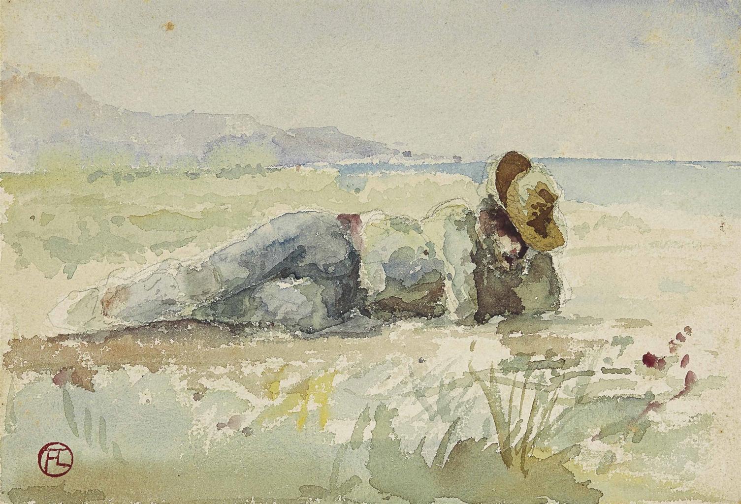 Henri de Toulouse-Lautrec-Homme etendu-1881
