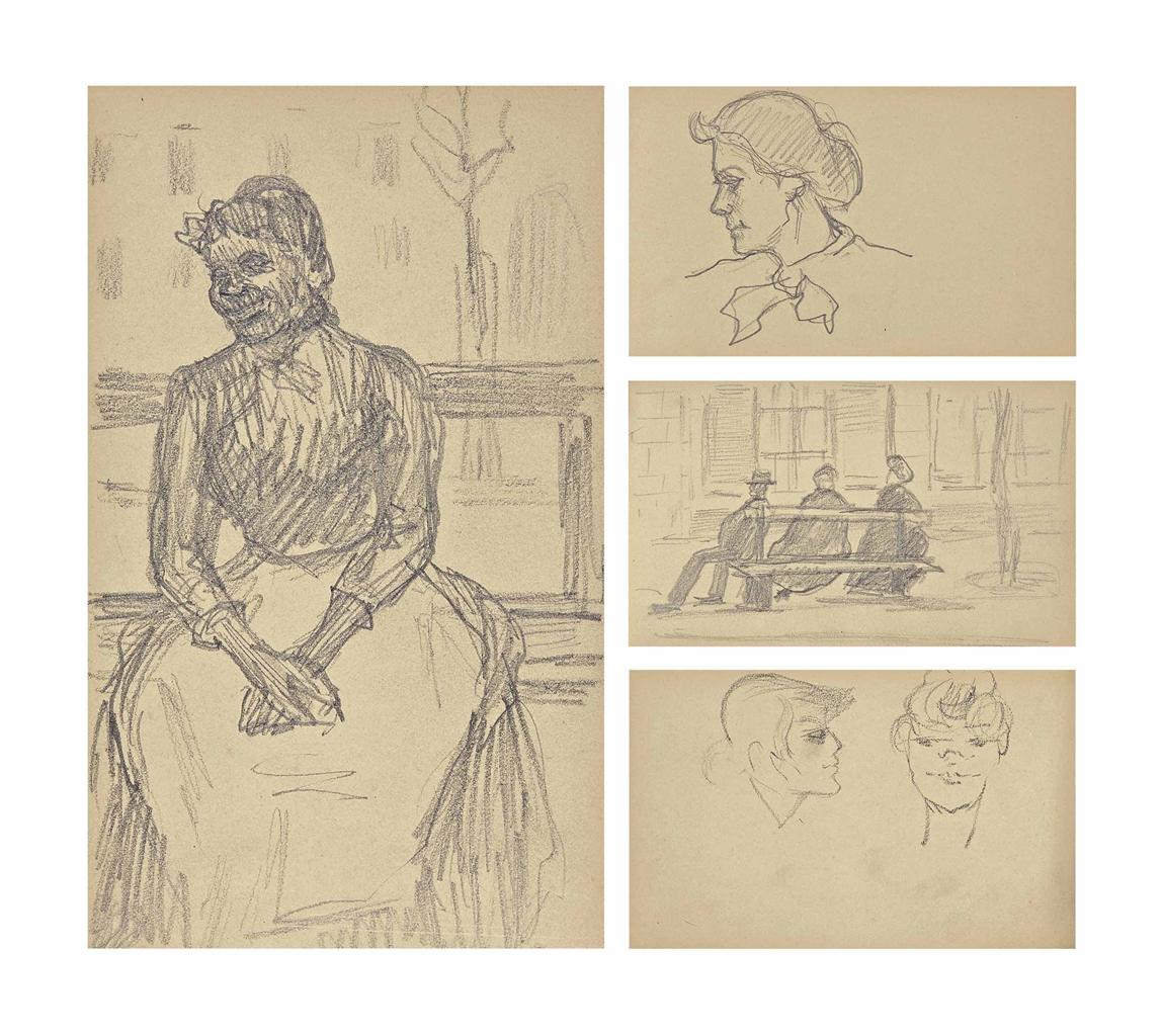 Henri de Toulouse-Lautrec-Petit album relie en toile grise-1881